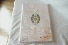 Vintage Hidaco Pink Damask 50 x 66 Inch Tablecloth-Unused-New Old Stock in Pkg