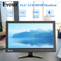 "Eyoyo 12"" LCD Gaming Monitor support HDMI AV VGA BNC for Camra RaspBerry Pi CCTV"