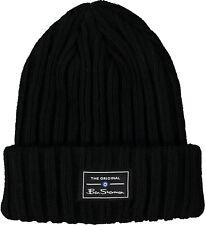 Ben Sherman Tracie Winter Beanie Hat Mens Womens Fashion Black