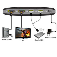 For Xbox One PS4 PS3 WiiU USB 2.0 1080P HD TV Tuner HDMI Video Game Capture Card