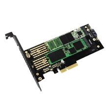 PCIe X4 to M.2 NVMe SSD NGFF Riser Adapter Card M Key / B-Key Dual Interface