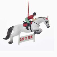 "Horse Racing ""Let It Ride"" Ornament"