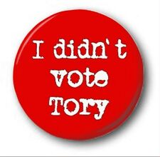 "I DIDN'T VOTE TORY - 25mm 1"" Button Badge - Novelty Protest LABOUR"
