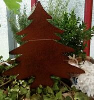 Edelrost Tannenbaum Baum Beetstecker Gartenstecker braun 25cm landhaus