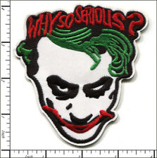 10 Pcs Embroidered Iron on patches Why So Serious Joker AP012jA