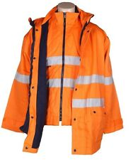 Hard Yakka 4 in 1 Cotton Drill Orange Jacket (XS) 3M Reflective Strip