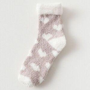 Suave Calcetines térmicos cálidos para mujer de lana de algodón para dormir