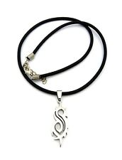 """NEW SLIPKNOT STAINLESS STEEL PENDANT &18"""" RUBBER CHAIN HIP HOP NECKLACE - RC1463"""