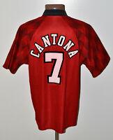 MANCHESTER UNITED 1996/1997/1998 HOME FOOTBALL SHIRT JERSEY UMBRO CANTONA #7