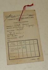 Ancienne FICHE de CLASSEMENT des CHEVAUX JUMENTS : BAYARD né en 1926 - ST-AUBIN