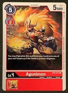 Agunimon | BT4-011 U | Red | Uncommon | Great Legend | Digimon TCG