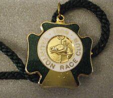Taunton Race Club 1989 Enamel Badge with cord Horse Racing Racecourse