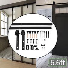 Carril de puerta deslizante 6FT6 Kit de hardware de Pista Ruta de la industria de estilo Granero de armario un conjunto