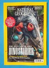 National Geographic Oktober 2020 Die Rückkehr der DINOSAURIER  ungelesen 1A