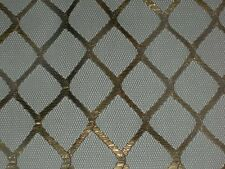 "Gold metallic tulle fabric black Lame lurex square fancy material 54""x by the yd"
