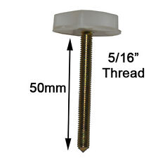 "Pair of 5/16"" Threaded Bed headboard Bolts with thumbwheel to use with Struts"