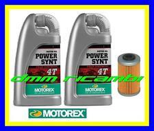 Kit Tagliando KTM 125 DUKE 12>13 Filtro Olio MOTOREX Power Synt 10W/60 2012 2013