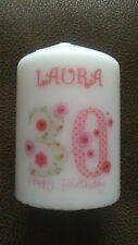Personalised 18th 21st 30th 40th 50th 60th 65th 70th 80th Birthday Candle