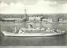 CARTOLINA adriatica societa' di navigazione venezia t n ausonia nave transatlant