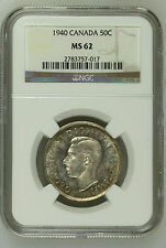 CANADA / 1940 50 Cents / NGC MS62 !!
