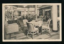 Shipping Cunard White Star RMS QUEEN MARY Garden Lounge c1930s? PPC
