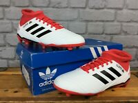 ADIDAS MENS UK 5.5 EU 38 2/3 WHITE RED PREDATOR 18.3 FG FOOTBALL BOOTS RRP £80
