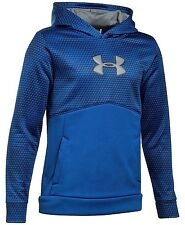 UNDER ARMOUR Storm Boys Mid Logo Hoodie Royal Blue Youth Large YL 1282927  NWT