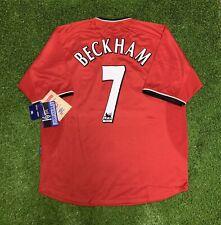 NEW 2000 2002 Manchester United David Beckham Jersey Shirt Kit Umbro Home XL Red