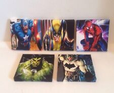 ( Batch 1 ) 5 MARVEL + DC SUPERHERO PICTURES On Canvas