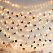 100 LED Photo Clip Peg String Decor Lights Battery Operated House Party