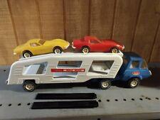 Mini Tonka Car Hauler Semi & 2 Corvettes