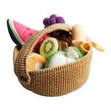 IKEA DUKTIG Set 9Pc Fruit and Basket Children Pretend Toy Role Play Food Kitchen