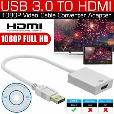 USB 3.0 to HDMI 1080P Video Cable Adapter Converter For PC Laptop HDTV LCD TV US