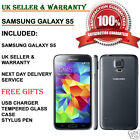 Samsung Galaxy S5 SM-G900F-16GB 4G Unlocked Smartphone Charcoal Black UK GRADE B