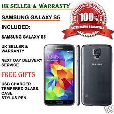 SAMSUNG Galaxy s5 sm-g900f-16gb 4g Sbloccato Smartphone Grigio Antracite Nero UK Grado B