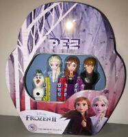 NEW Disney Frozen 2 PEZ Candy Dispensers Collectors Limited Edition Tin Gift Set