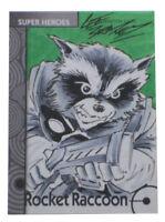 2013 Fleer Marvel Retro Rocket Raccoon Artist Sketch Card Lee Bradley 1/1