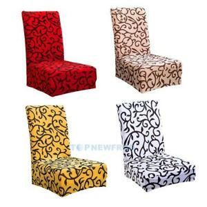 Removable Printing Pattern Elastic Home Hotel Dining Decor Chair Covers TN2F