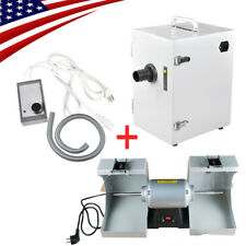 Polishing Unit Polisher Buffing Grinder Jewelry Equipment+Digital Dust Collector