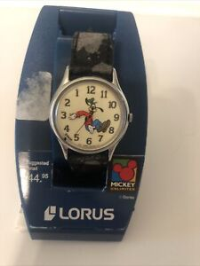 Vintage Lorus Quartz Goofy Backwards Watch Walt Disney - Needs Battery