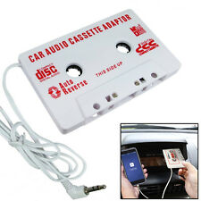 Car Audio Tape Cassette Adapter iPhone iPod Mp3 CD Radio 3.5mm Jack AUX - White