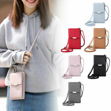 Women Leather Wallet Purse Shoulder Bag Mobile Phone Mini Cross-body Bag Gift