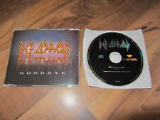 DEF LEPPARD Goodbye 1999 EUROPEAN promo CD single