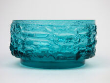 Dartington small Kingfisher blue Polar fruit bowl FT109 Frank Thrower 1970
