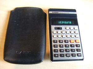 Vintage Retro Casio FX-31 FX31 Scientific Calculator Green LED with Soft Case