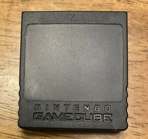 OEM Official Nintendo Gamecube Black Memory Card  DOL-014