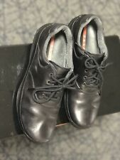 Black Leather Loafers Made in Italy  Size 8.5