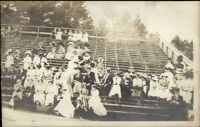Sporting Event People in Stands - c1910 Candid Real Photo Postcard myn