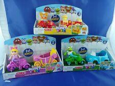 Muppet Babies lot of 3 - 2 in 1 Vehicle set Fozzie, Kermit, Miss Piggy Vehicles!