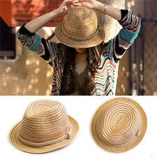 Vente chaude Chapeau De Plage Panama Cap Paille Plage en été élégante Pour Femme